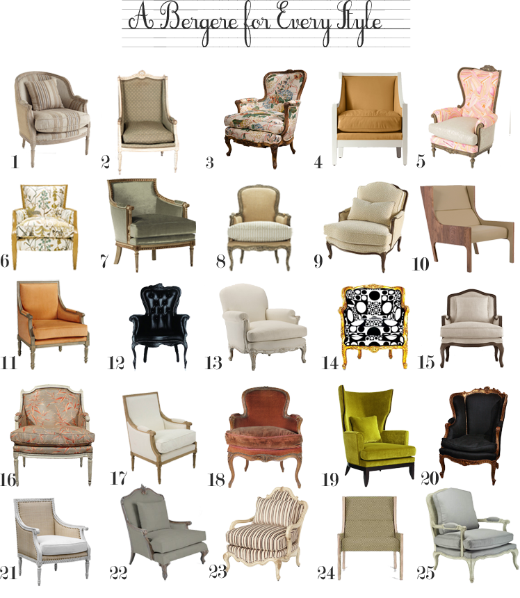 French Louis XIV Style from 1st Dibs 3. French Distressed from 1st Dibs 4. Louise Chair from Serenau0026Lily. 5. Octavia Chair from Anthropologie  sc 1 st  The Anatomy of Design & bergere chair | The Anatomy of Design
