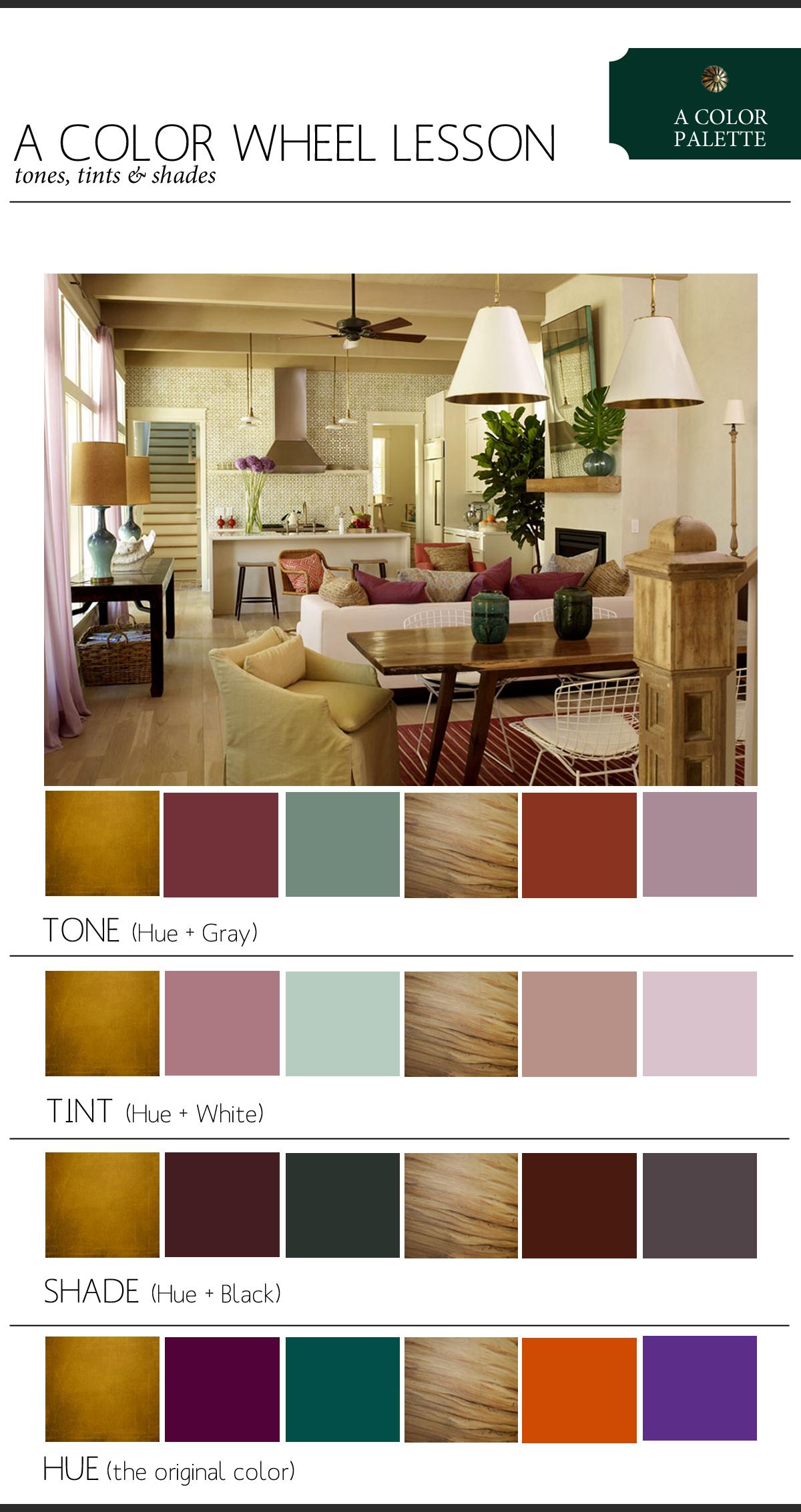 Color Palette Tint Tone Shade Copy