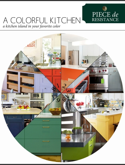 A Colorful Kitchen Island