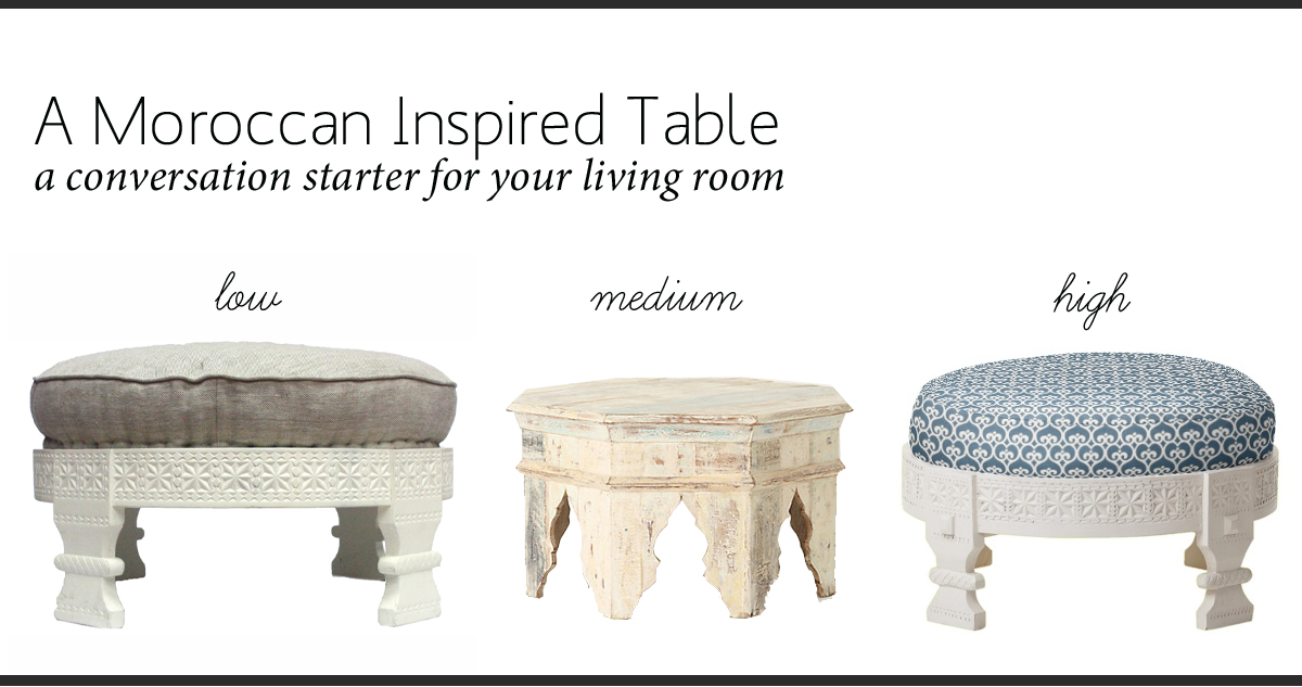Moroccan Inspired Table Copy