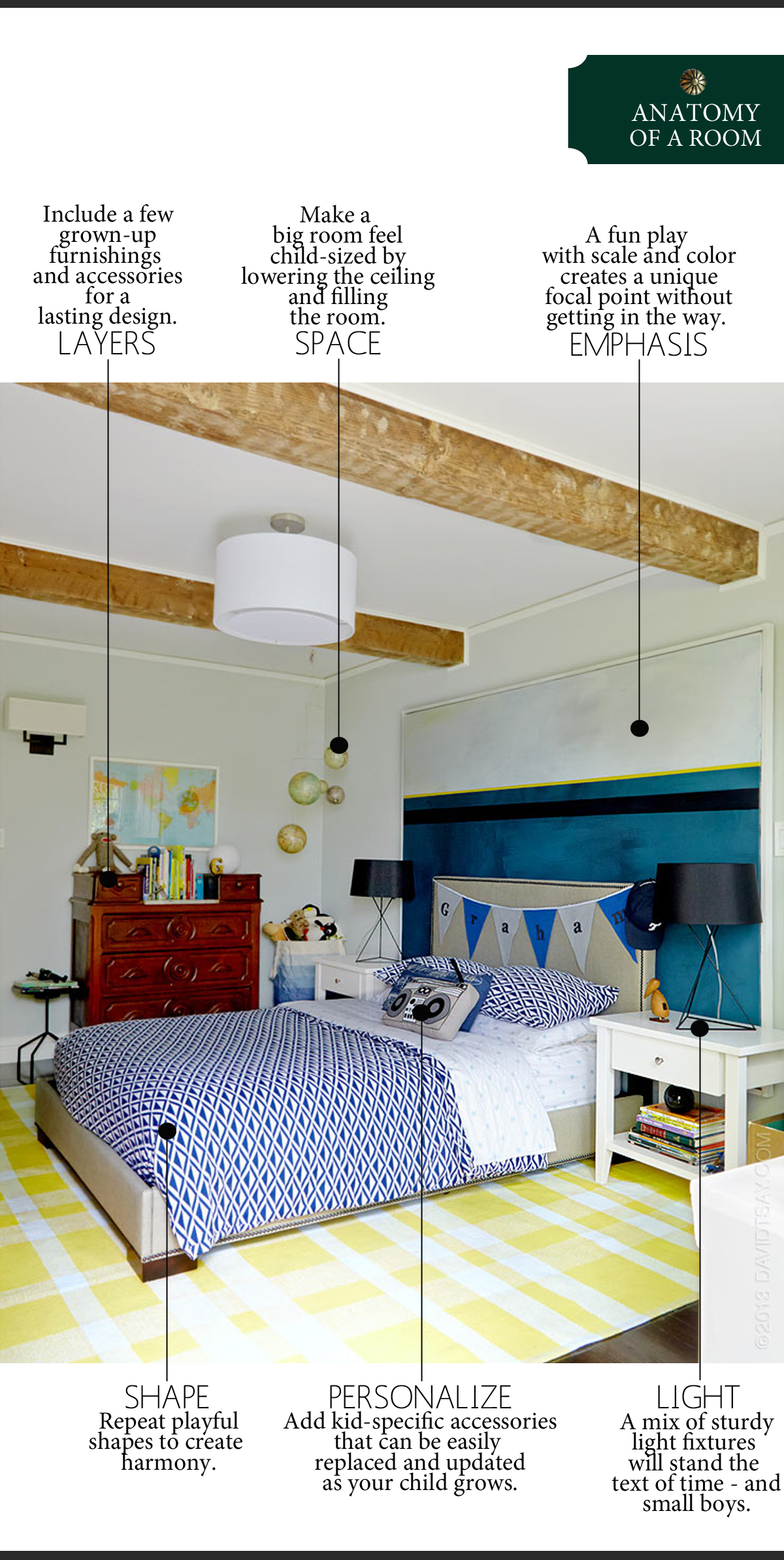 Anatomy of a Playful (But Timeless) Bedroom | The Anatomy of Design