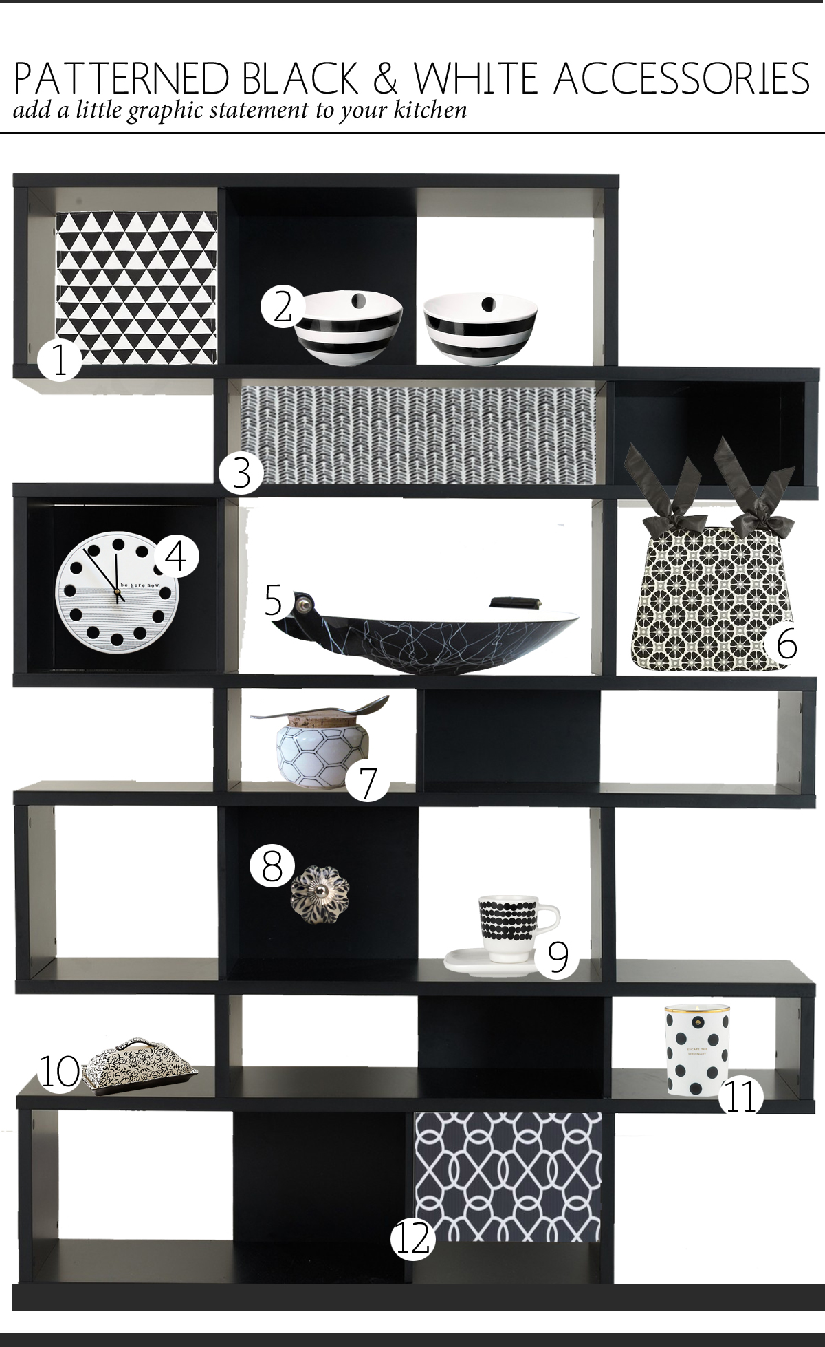 black white kitchen accessories black amp white kitchen accessories the anatomy of design 4766