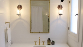The Anatomy Of A Pretty Small Guest Bath By Amber Interiors