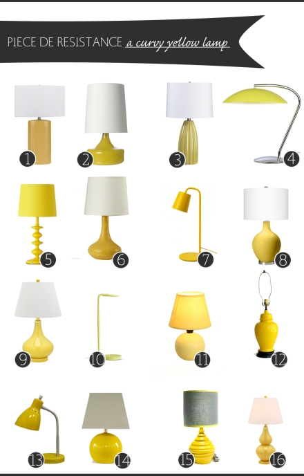 yellow table lamp copy