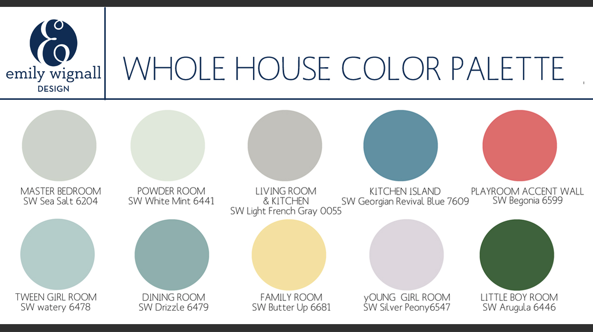 My Projects Picking A Whole House Color Palette The
