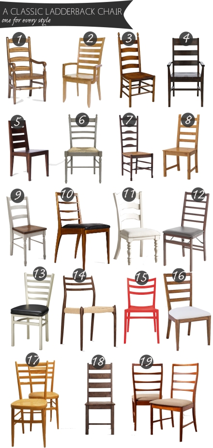 Classic Ladderback Chairs for Every Style | www.theanatomyofdesign.com