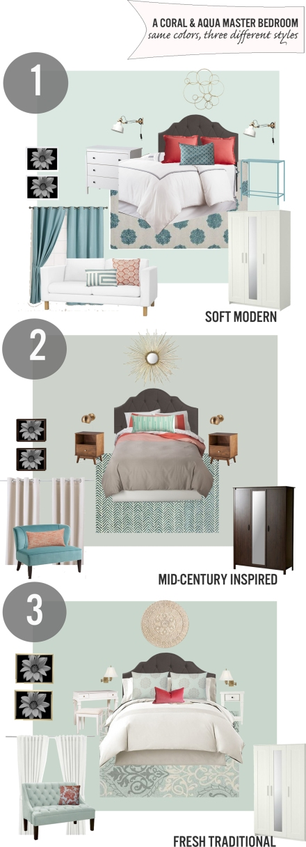 an aqua bedroom three ways copy