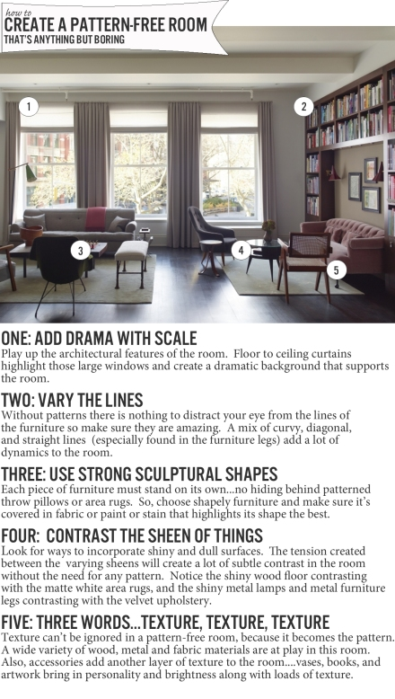 How to : Create a Pattern-Free Room That's Anything but Boring | www.theanatomyofdesign.com