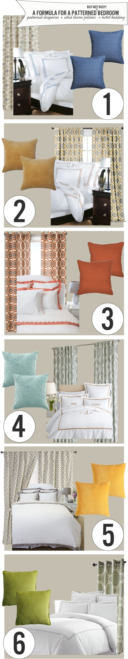 A Formula for a Patterned Bedroom | www.theanatomyofdesign.com