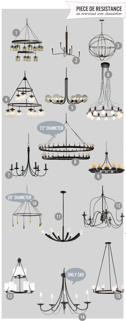 15 Dramatic Black Chandliers | www.theanatomyofdesign.com