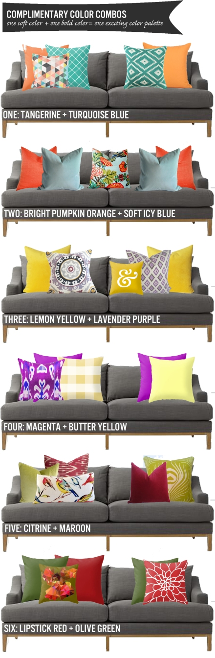 Exciting Complimentary Color Combos | www.theanatomyofdesign.com
