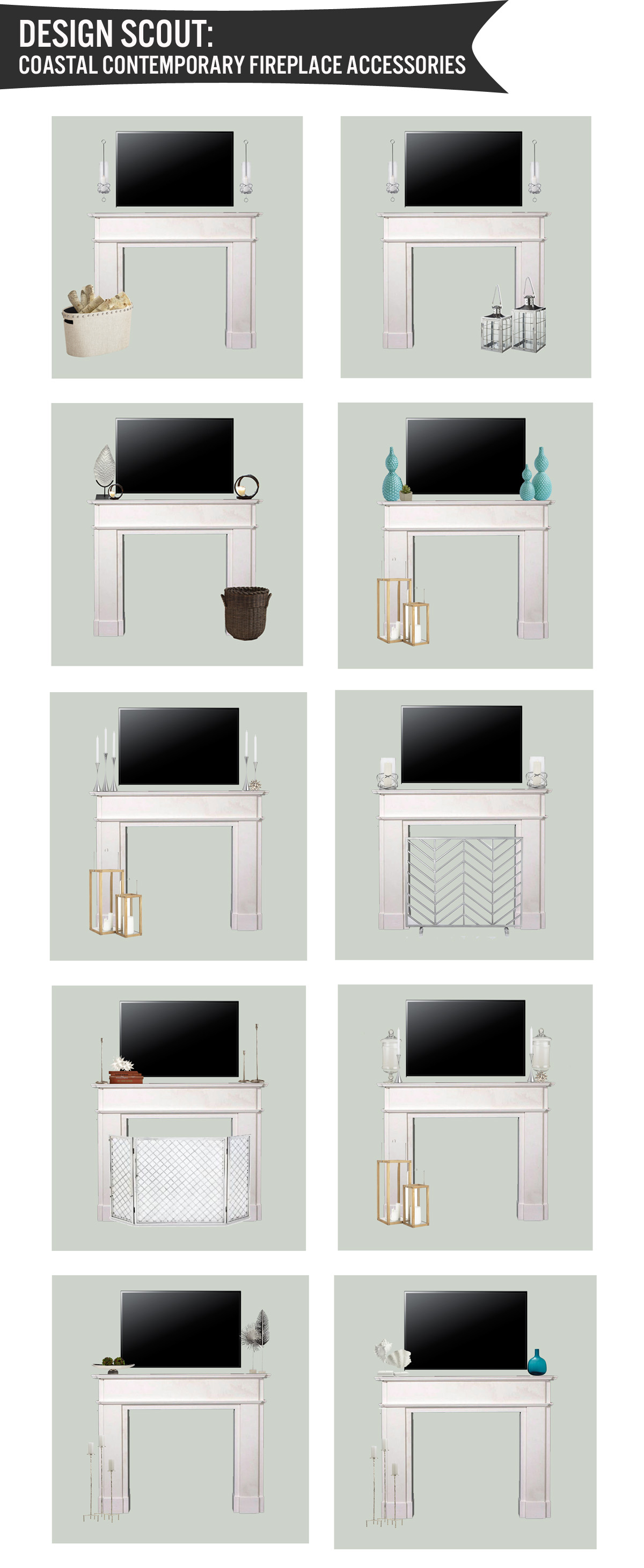 Design Scout: Coastal Contemporary Fireplace Accessories | The ...