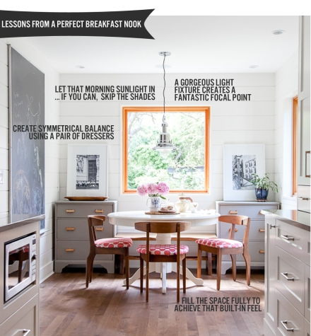 Lessons from the Perfect Breakfast Nook  | www.theanatomyofdesign.com