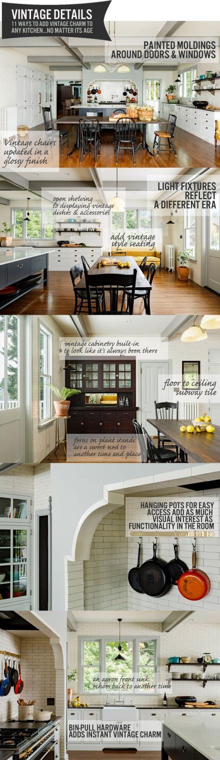 11 Ways to Add Vintage Charm to Your Kitchen...No Matter Its Age | www.theanatomyofdesign.com