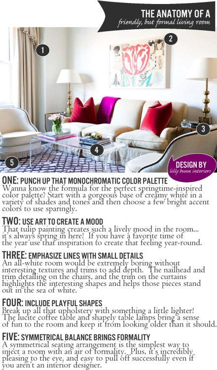 The Anatomy of a Friendly, but Formal Living Room | www.theanatomyofdesign.com