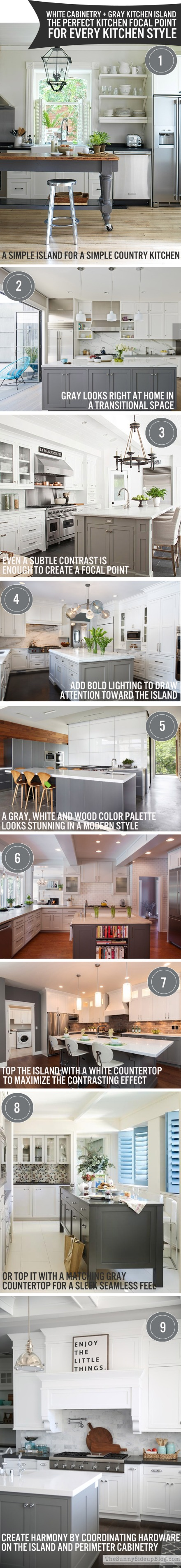 The Perfect Focal Point: A Gray Kitchen Island | www.theanatomyofdesign.com