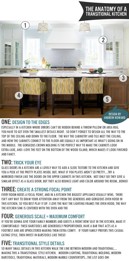 The Anatomy of a Transitional Kitchen | www.theanatomyofdesign.com