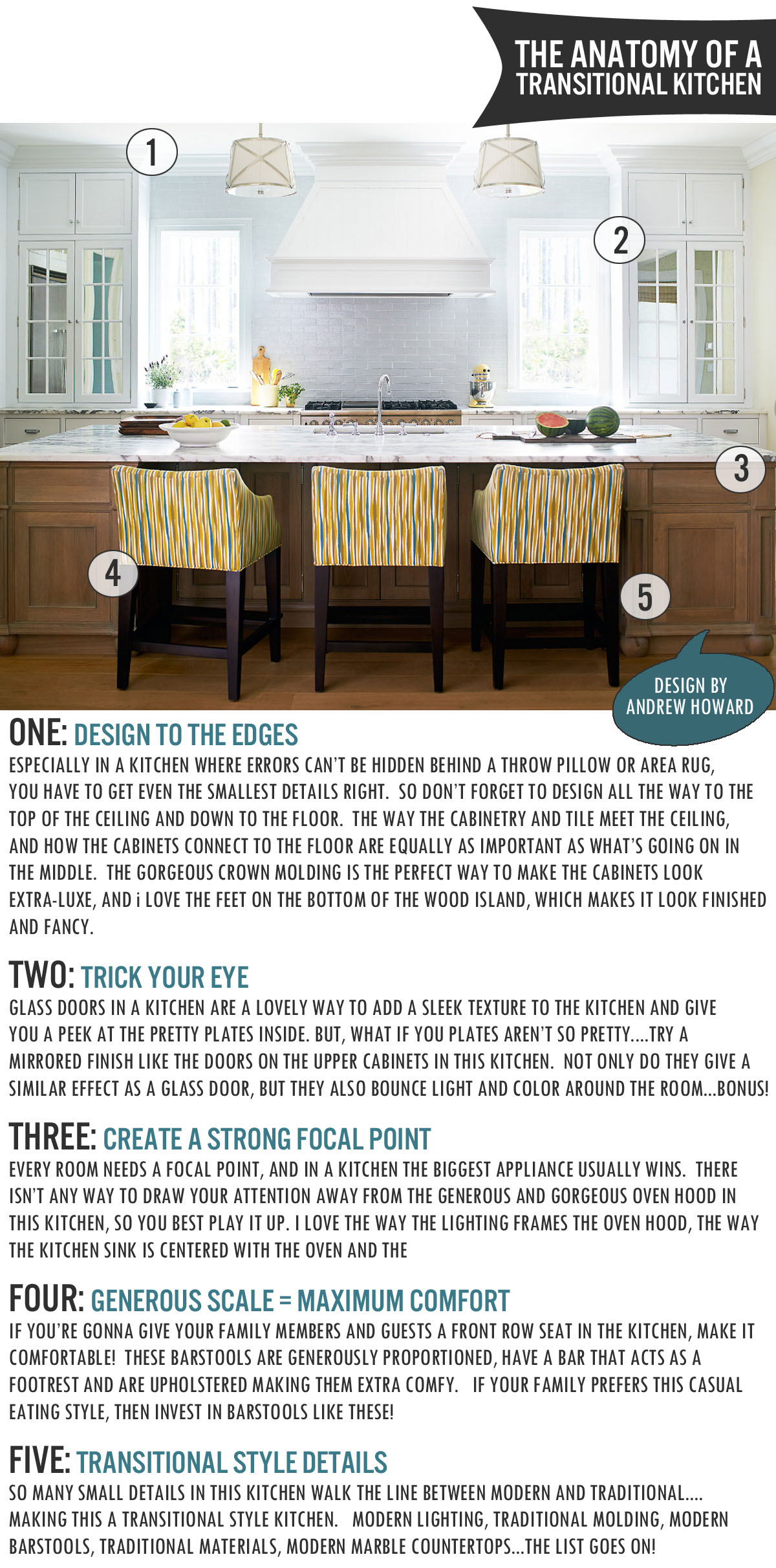 Medium image of the anatomy of a transitional kitchen   www theanatomyofdesign com