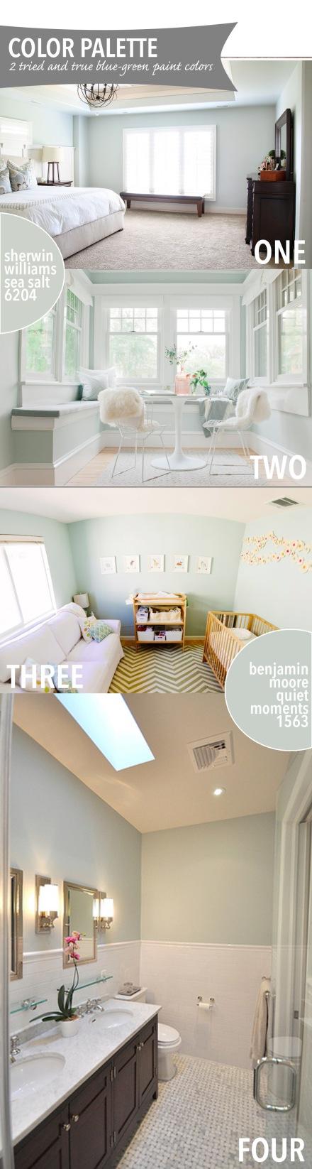 The Best Blue-Green Paint Colors   www.theanatomyofdesign.com