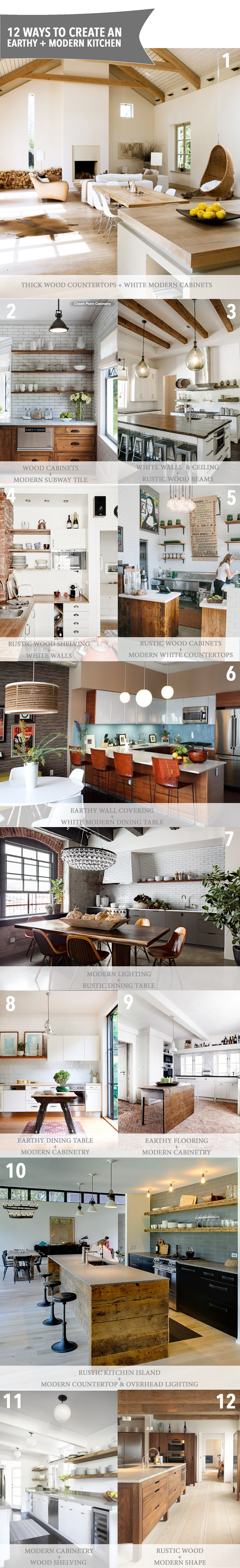 12 ways to create an earthy modern kitchen the anatomy for Earthy kitchen designs