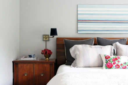 Calm, but Colorful Master Bedroom | www.emilywignalldesign.com