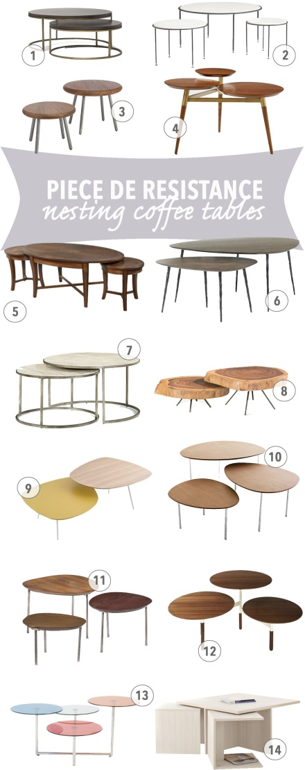 14 Nesting Coffee Tables | www.theanatomyofdesign.com