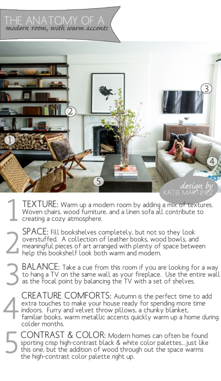 Anatomy of a Modern Room with Warm Accents | www.theanatomyofdesign.com