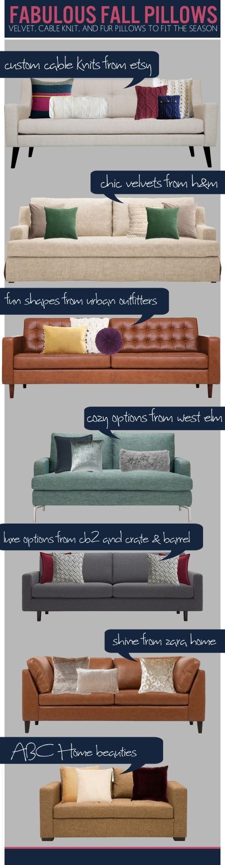 7 Sources for Fabulous Fall Pillows | www.theanatomyofdesign.com
