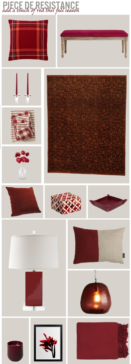 Add A Touch of Red For Fall | www.theanatomyofdesign.com