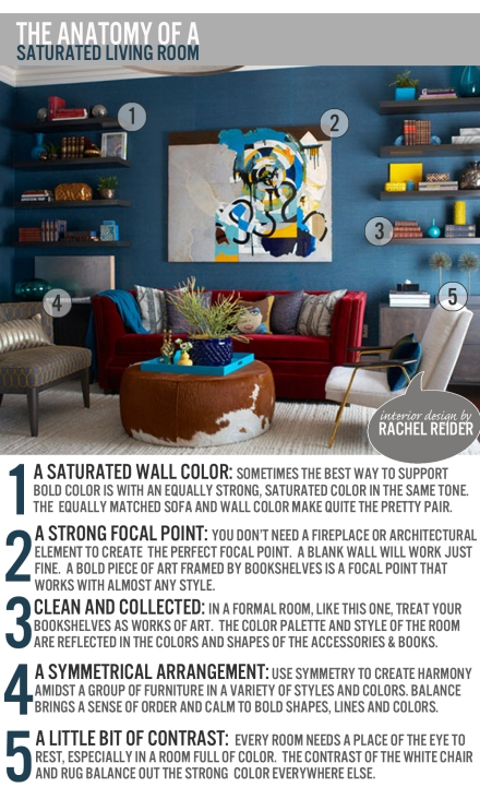 The Anatomy of a Saturated Living Room | www.theanatomyofdesign.com