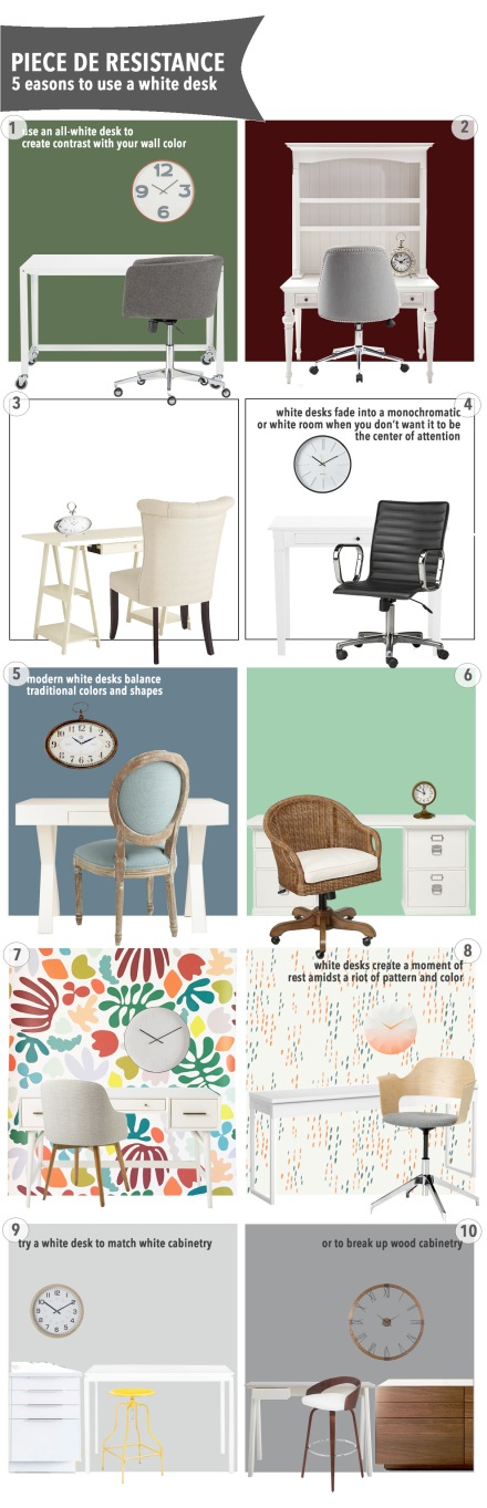 5 Reasons to Use a White Desk | www.theanatomyofdesign.com