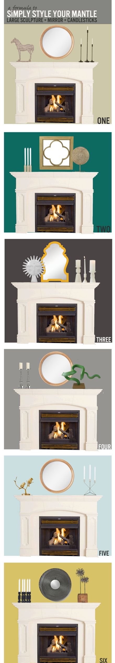 A Formula to Style Your Fireplace Mantle | www.theanatomyofdesign.com