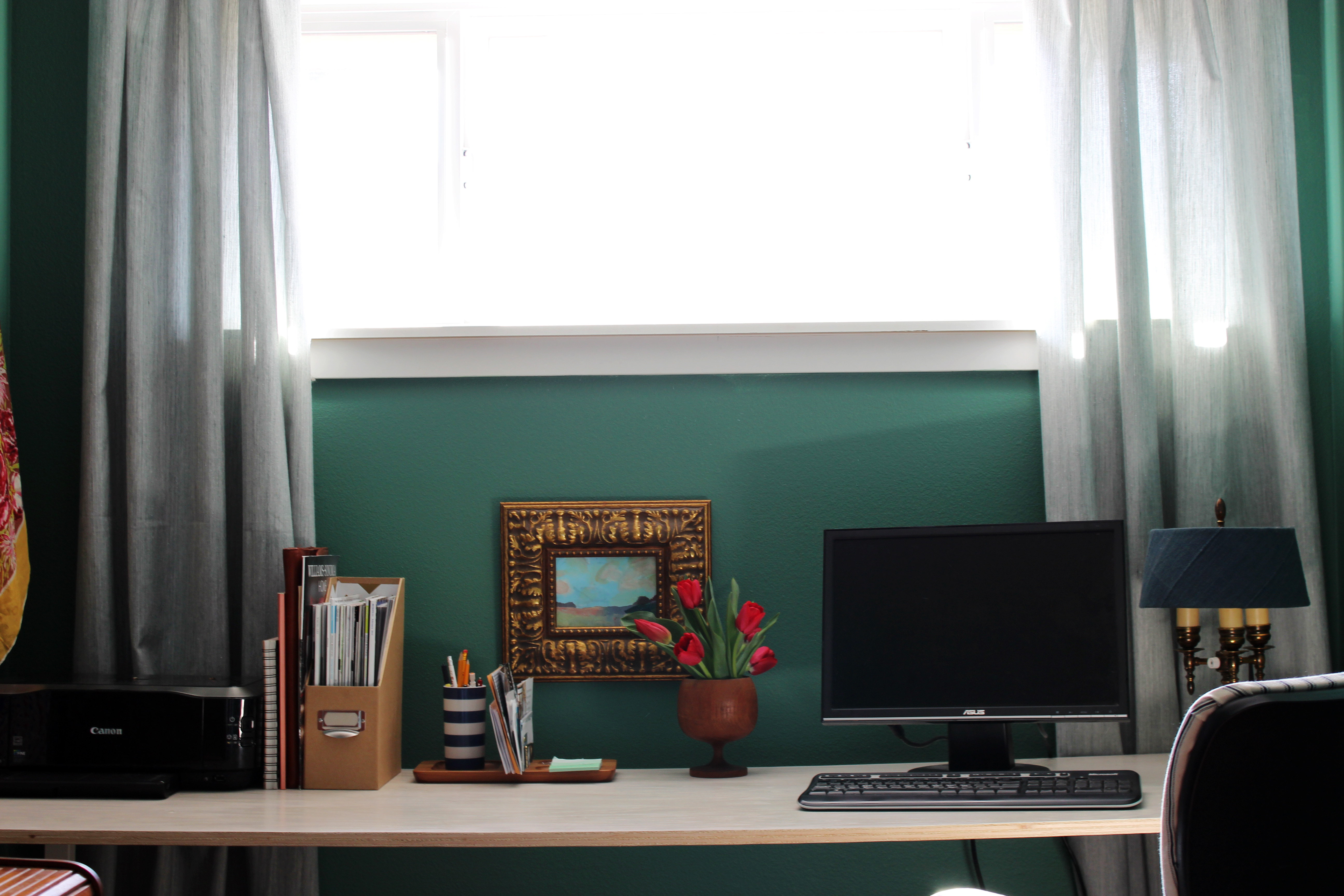 finished office makeover. My Eclectic Office Makeover | Www.theanatomyofdesign.com Finished