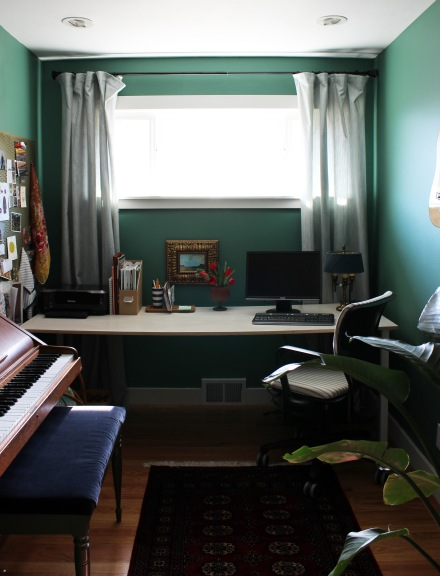 My Eclectic Office Makeover | www.theanatomyofdesign.com