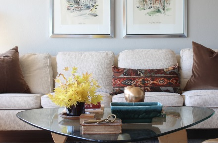 My Midcentury Fall Living Room | www.theanatomyofdesign.com