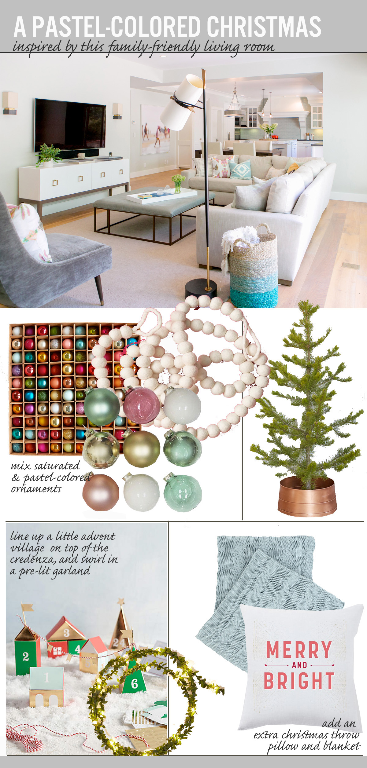 A Pastel-Colored Christmas | The Anatomy of Design