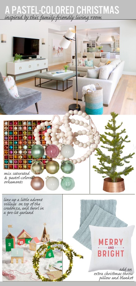 A Pastel Colored Christmas | www.theanatomyofdesign.com
