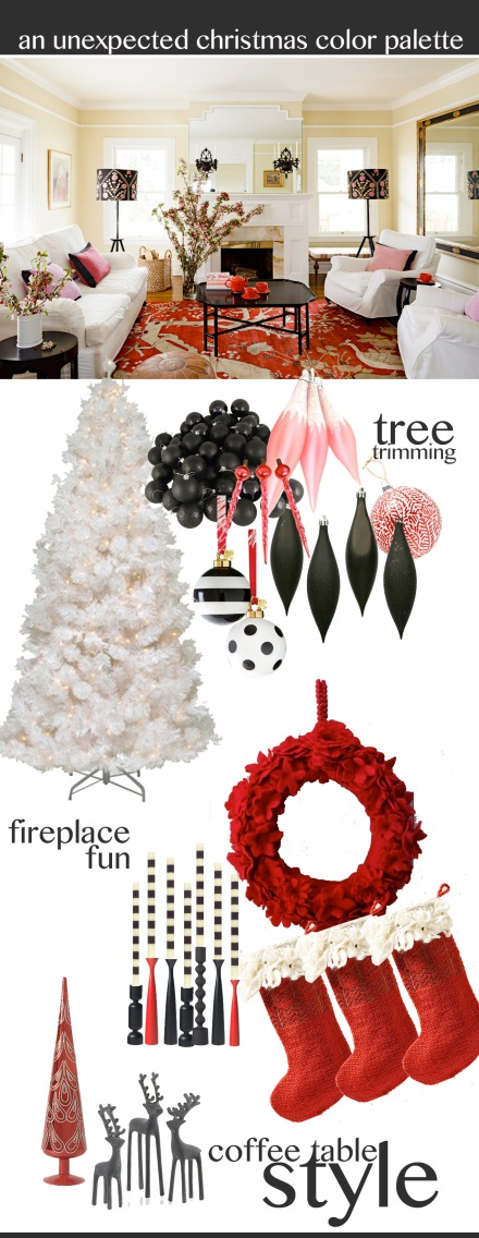 An Unexpected Christmas Color Palette | www.theanatomyofdesign.com